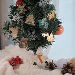 한글 크리스마스 은장 트리 장식 책갈피 4종세트