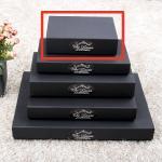 선물 포장 상자-블랙싸바리상자  직사각 납짝긴소형 Box E2