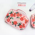 위드앨리스 2단 메이크업 파우치 Camellia