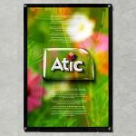 아틱/자석 프레임노트 A1 용/부착형/아크릴/게시판/POP/자석식/홍보게시판 액자 게시물 광고판