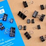 22p 블랙 집게클립(혼합)/회사납품용 학교납품용
