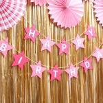 펠트 스타 생일가랜드 (핑크)