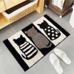 블랙 고양이 욕실매트