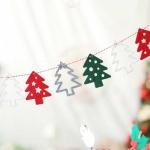 펠트 크리스마스 유니크가랜드 (트리)