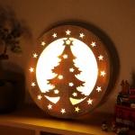 LED 크리스마스 트리 원형 무드등