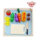 투키토이 야채컷팅 야채 과일 원목 썰기 주방놀이