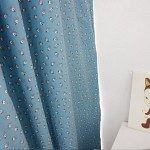 포레 잔꽃무늬 암막커튼