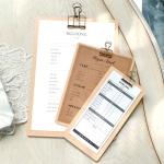 심플우드 빌지 클립보드 영수증 메뉴판 꽂이 스탠드형