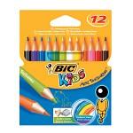 BIC 빅 트로피컬러 색연필 12색(미니)
