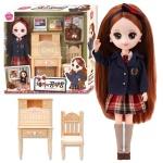 원앤원 체리의 공부방 인형 장난감 책상 의자 교복