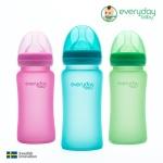 [에브리데이베이비] 온도감지 유리젖병 스웨덴감성
