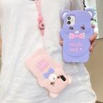 아이폰11 PROMAX XR XS SE2 8 곰 스트랩 실리콘케이스