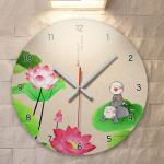 ie292-연꽃과동자승02_인테리어벽시계