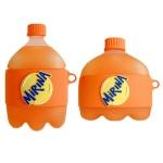 에어팟 1/2/3세대/프로 오렌지 탄산음료 실리콘케이스
