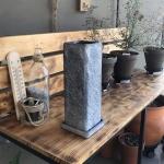 빈티지 시멘트 화분 긴정사각 10x10x30cm