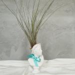 석고상화분 틸란드시아 드루이드+모스+리본 포함