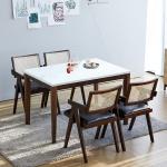 [리비니아]루디 홀리라탄의자 4인용 대리석식탁세트