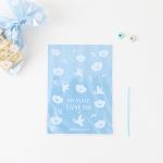 패키징 선물포장 비닐(타이) 03.블루도브(10매)