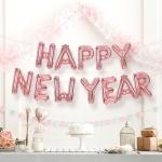 해피뉴이어 은박풍선세트 HAPPY NEW YEAR 로즈골드