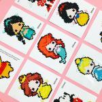DIY 디즈니 프린세스 어린이 스티커형 보석십자수 인어공주 신데렐라 백설공주 미녀와야수 아이러브페인팅