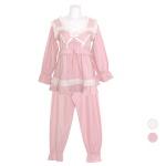 [쿠비카]볼륨감 앞 셔링 기모 투피스 여성잠옷 W706