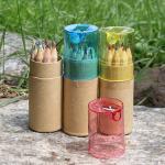 (와인앤쿡)12색 색연필 연필깎이세트 용