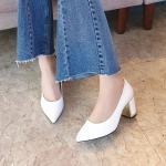 [애슬릿]골드 라인 스텔레토 여성 미들힐 구두 7cm