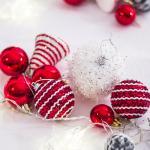 크리스마스 트리 장식 오너먼트 세트 레드