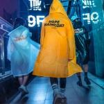 DOPE 디자인 레인코트 여성우비 남자우의 패션판초비옷