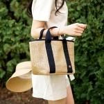Bonjour Rattan cooler bag_Tan M (라탄 쿨러백)