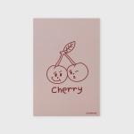 [어프어프] 엽서 Twin cherries-Indy pink