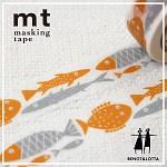 폭20mm-북유럽 감성 일러스트 Bengt&Lotta 작품-일본 mt 디자인 마스킹테이프-물고기 hd306-Belo06