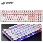 DDZONE 레트로감성 멤브레인 LED키보드 (핑크) W2576A1