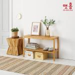앳홈 원목 벤치 겸 신발정리대(대나무) (대형)