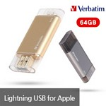 [MFi인증]버바팀 애플 8핀 라이트닝 OTG i-drive USB 64G(VB498_64)