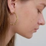 aro hoop earring - L