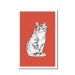 북성로 고양이 엽서 레드