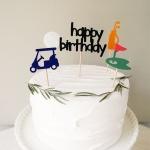 골프 생일 파티 토퍼