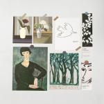 러프 명화 포스터카드 7종세트 D모딜리아니