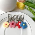 지갑 에어팟 키링 열쇠고리 실리콘 꽃 플리아 pr-8129