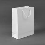 무지 세로형 쇼핑백(화이트) (20x28cm)