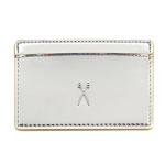 [조셉앤스테이시 지갑]Easy Pass Flat Card Case Mirror Silver