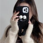 아이폰se2 11 pro max xs 8 뽀글이 블랙인형 털케이스