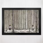 1000피스 직소퍼즐 현현 - 자작나무 + 우드블랙액자
