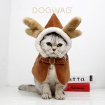크리스마스 루돌프 망토 강아지 목도리 고양이 케이프