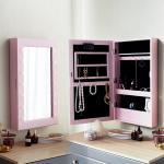 [베스트리빙]핑크 조명 수납형 LED거울(JC043-2-495C)