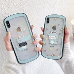 아이폰 악어 캐릭터 투명 하드 핸드폰 케이스 1470