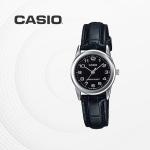 카시오 여자 여성 가죽 빈티지 손목시계 LTP-V001L-1B