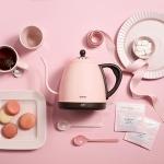일본 드레텍 핸드드립 핑크 전기주전자