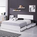 [에인하우스] 에덴 3단 800 서랍형 침대 Q + 독립매트리스포함